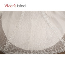 Vivian's Bridal Beaded Sequin Long Sleeve Wedding Dress Ball Gown Wedding Gown Off Shoulder Lace Bridal Dress WD3508