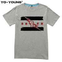 Yo Young Men Casual T Shirts CM Punk Best In The World Degital Printed 100 180g
