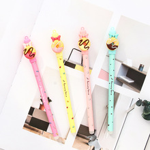 30 Pcs/Lot Honey Lovey Gel Pen Pink Bow Tie Donut Ink Black Color Canetas Stationery Office School Supplies