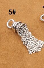 925 Серебряная кисточка DIY браслет кисточка чистое серебро ювелирные изделия кисточка - Цвет: Style 5