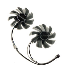2pcs/set RX 580 AORUS 8G VGA GPU 4pin 85mm Cooler Graphics Card Fan for REDEON GIGABYTE rx580 gaming 4G/8G MI Video Card Cooling