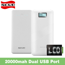 Scud LCD Display Screen 20000mAh Powerbank External Battery Charger Backup Portable For iPhone Samsung Xiaomi Phones Power Bank