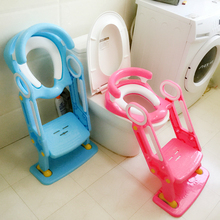 Folding Potty Ladder Toilet Seat Toilet Bowl Step Stool with Backrest Soft Base Plastic Children's Toilet Baby Toilet Training(China)