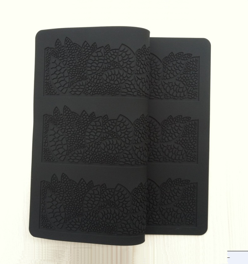 Brave Ct-010 New Style Three Lace Soft 100% Platinum Silicone Cake Fondant Embossing Gum Paste Decorating Mold Tool Cake Molds Bakeware