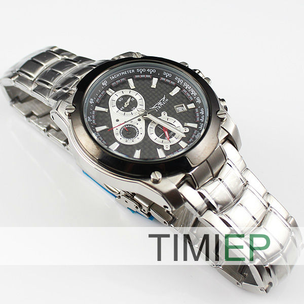 ФОТО NEW 3 Dial 100M Men's Diving Watches Waterproof 300FT Diver Watch Stainless Steel