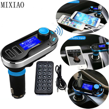 Transmisor inalámbrico Bluetooth FM para automóvil, reproductor MP3, adaptador USB con equipo receptor manos libres