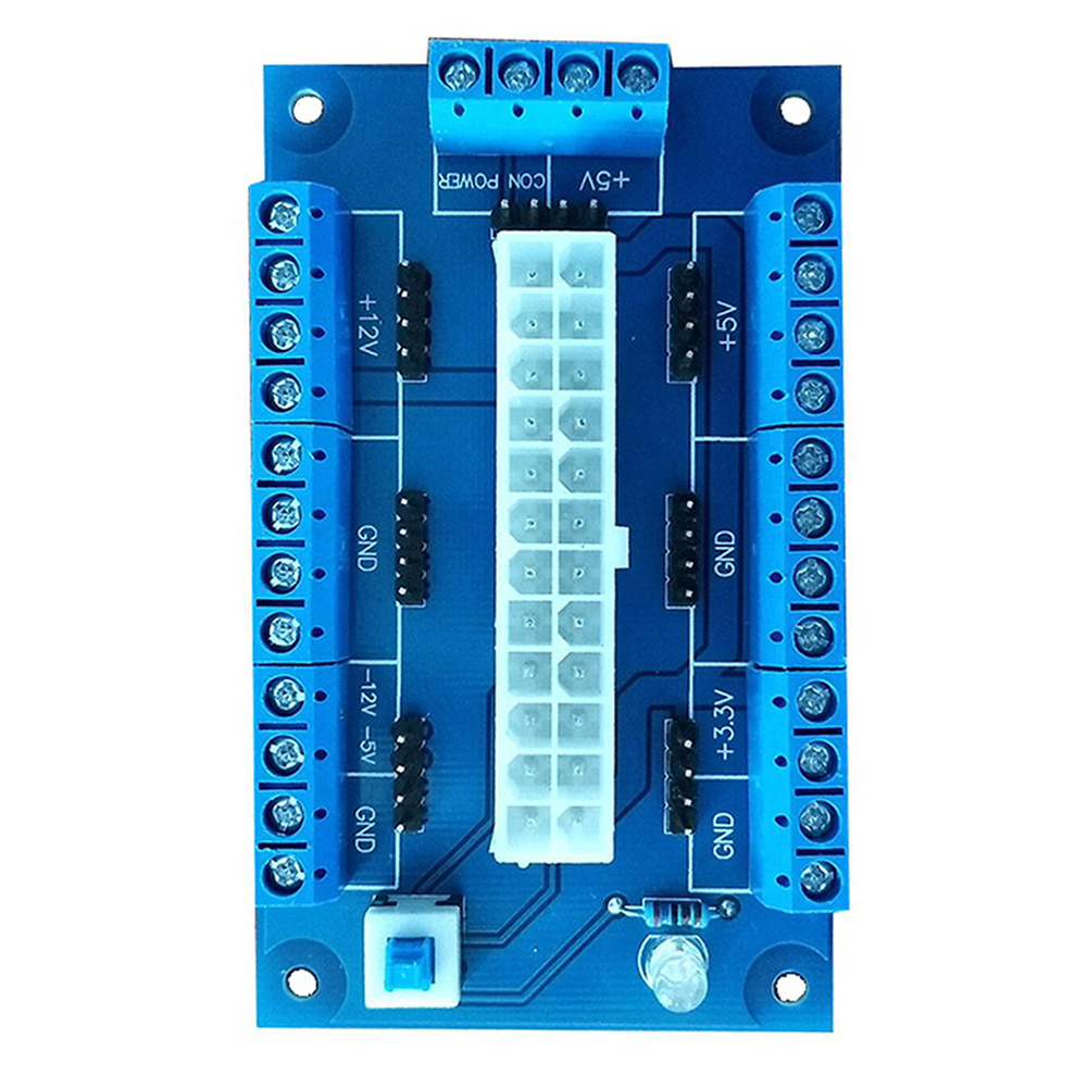 Image 2 - PC 24/20Pin ATX DC Power Supply Breakout Board Module Adapter DIY Accessories 2019hot-in Computer Cables & Connectors from Computer & Office