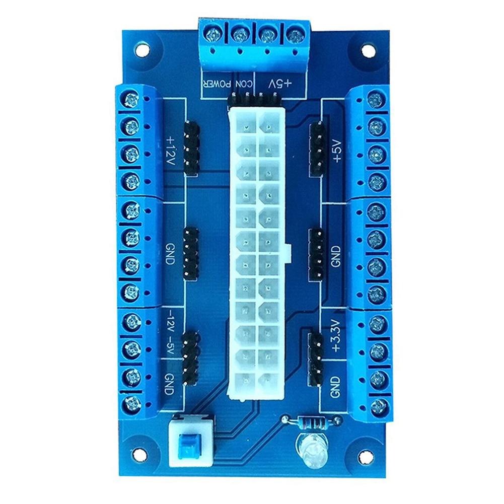 20//24 Pins ATX Benchtop Board PC Power Breakout Module Adapter w//USB 5V Port
