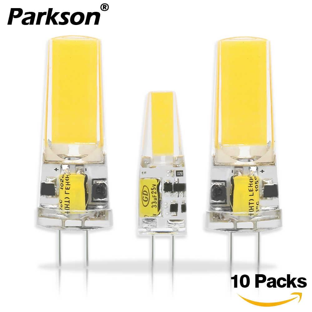 10 шт./лот, светодиодные лампы COB G4 G9 E14, светодиодные лампы переменного/постоянного тока, 12 В, 220 В, 6 Вт, 9 Вт, 360 Угол луча, заменить галогенные светодиодные лампы, люстры