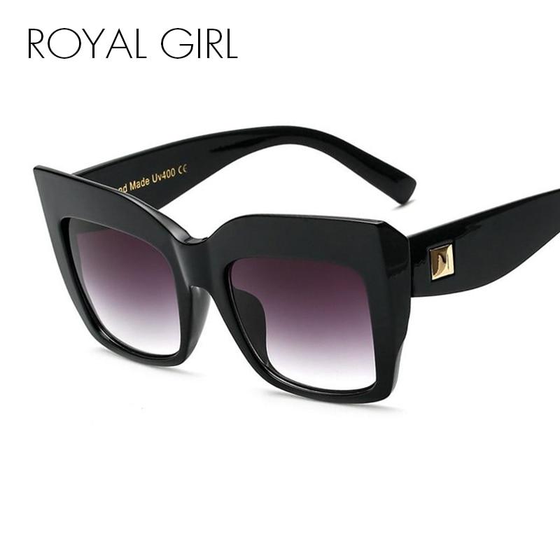 ROYAL GIRL Oversize Vintage Gafas de sol Mujer Acetato Chic Gafas de sol vintage Gafas transparentes gafas femeninas montura ss913