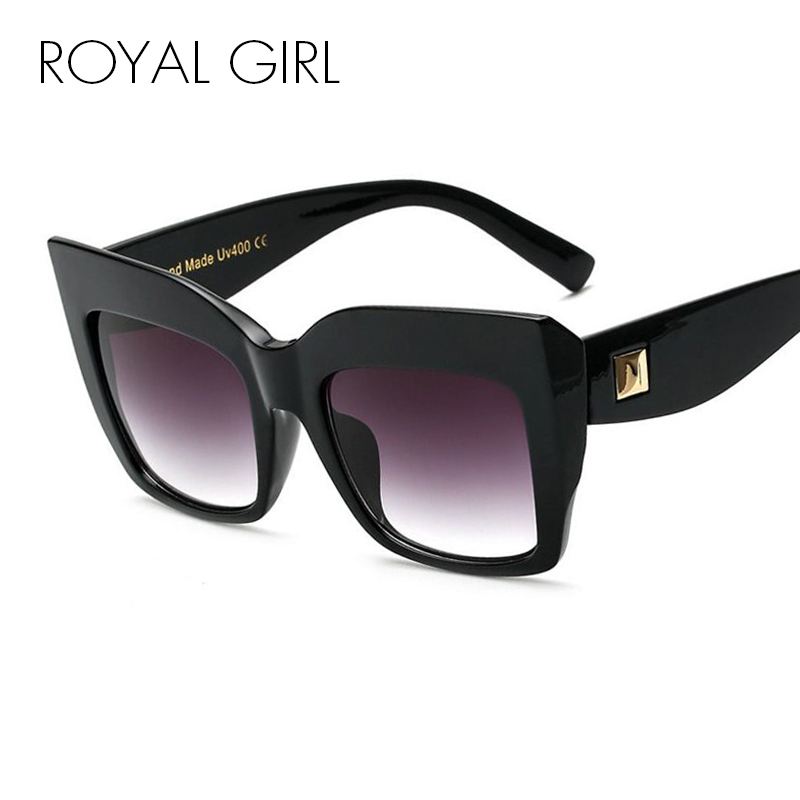 royal girl oversize vintage sunglasses women acetate chic sun glasses vintage clear glasses female glasses frame
