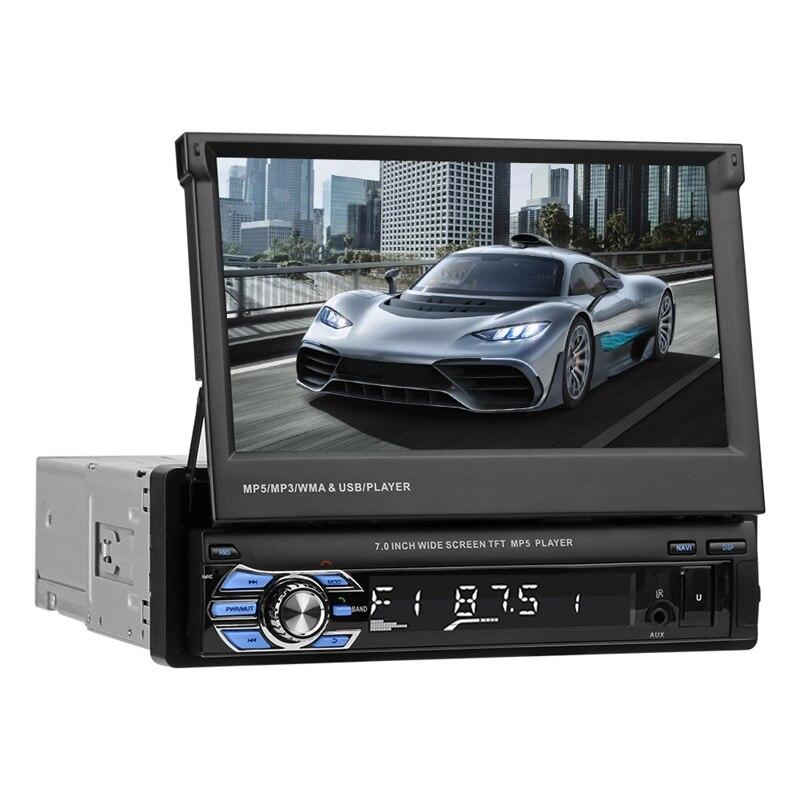 SWM 9601 г обновлен складной 7 Сенсорный экран автомобиля MP5 плеер gps навигации Bluetooth стерео аудио MP3 AM, FM радио Media Player