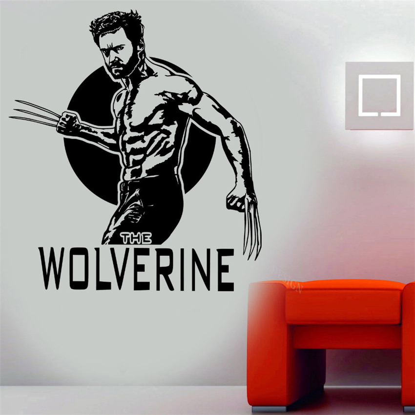 Wolverine X Men Vinyl Wall Art Decal Removable Wall Stickers Home Decor  Living Room For