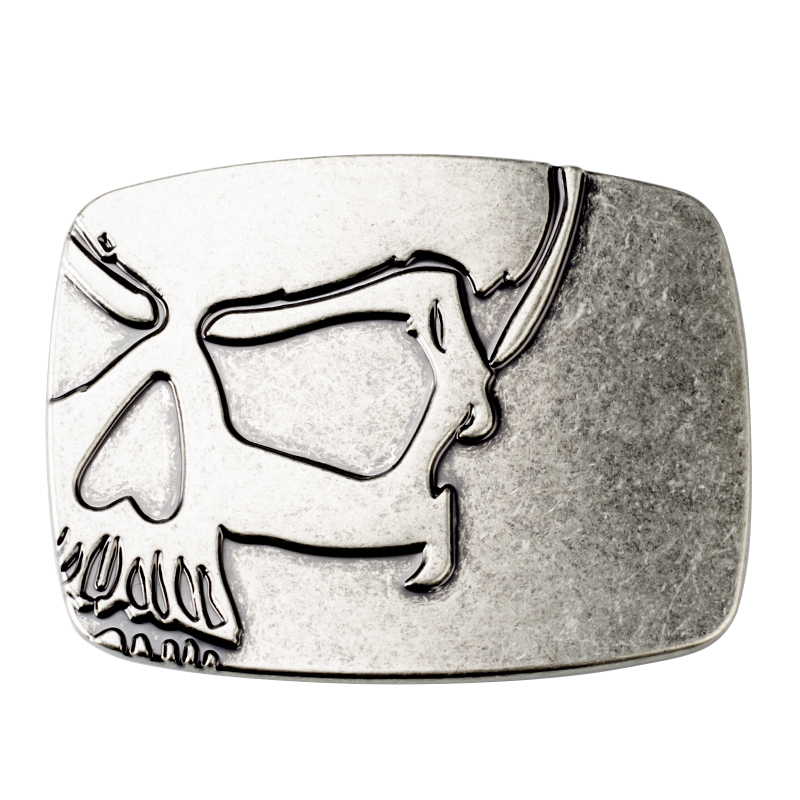 Skull Alloy Simple Man Metal Belt Buckle 4.0CM