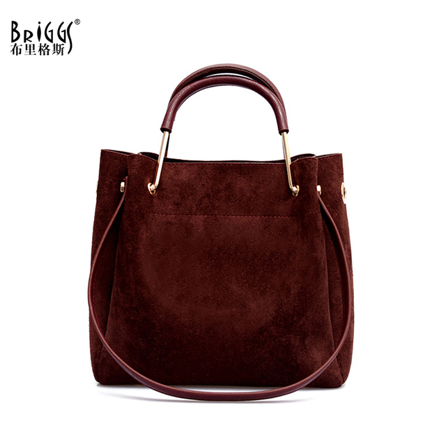 e3fca485816b US $17.85 49% OFF BRIGGS Vintage Women's Bag Shoulder Female Luxury Suede  Leather Messenger Bag Women's Crossbody Ladies Hand Bags for Women sac-in  ...