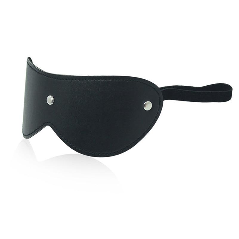 Morease Leather Blinder Eye Mask Blindfold Erotic Slave Restraint Adult Game Fetish Bdsm Sex Toy Product For Women Role Play New