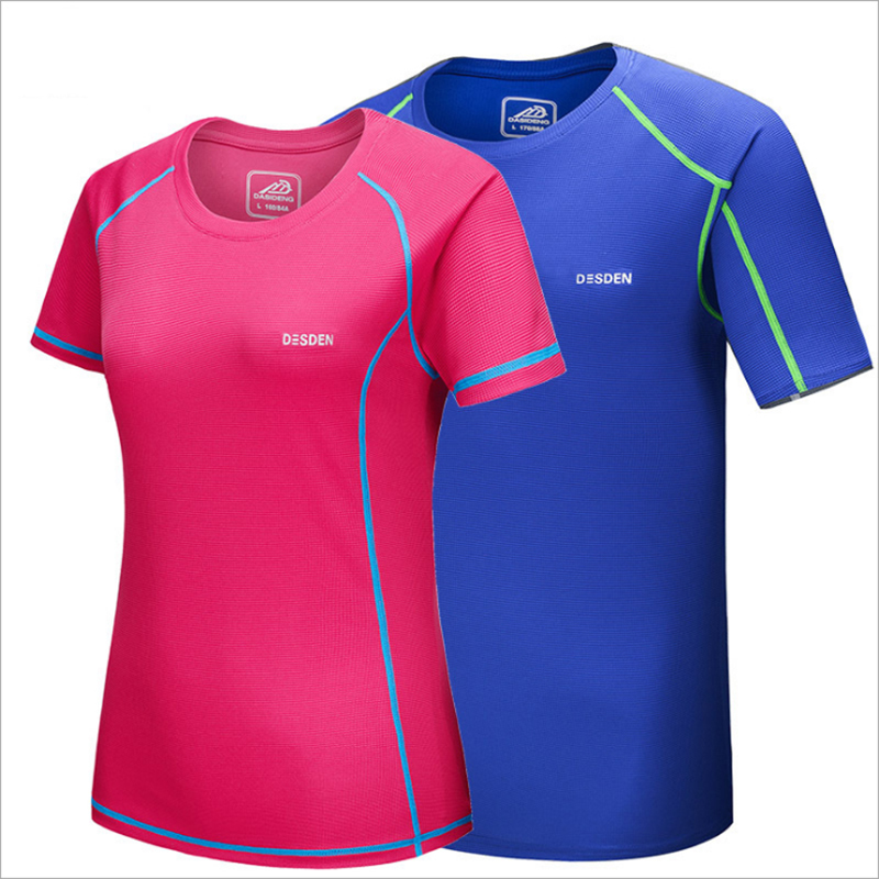 2016 Lovers Summer Multiple Color Outdoor Sports Female T Shirts Short Sleeve Men Clothing Quick Dry