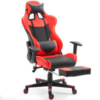 Giantex Ergonomic Gaming Chair High Back Racing Office Chair With Lumbar Support Footrest Modern Reclining Furniture