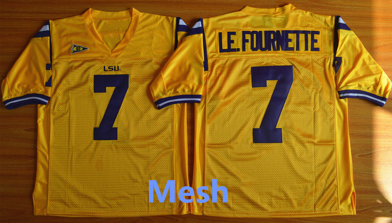 100% authentic 633c9 a7bf4 lsu tigers 7 leonard fournette yellow jersey