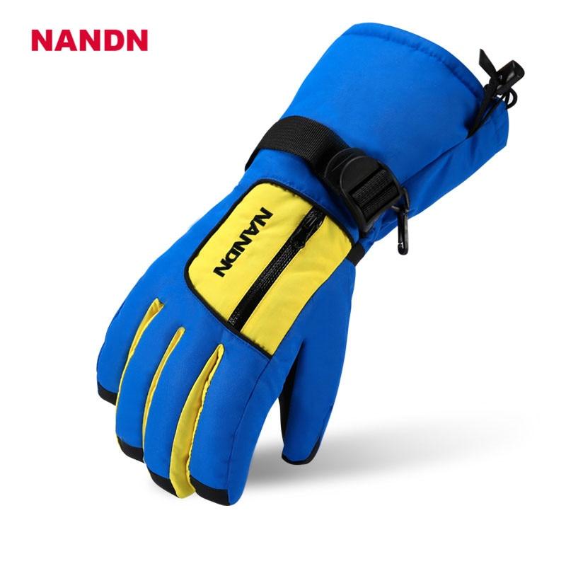 NANDN Spectre Mens Womens Ski Gloves Waterproof Winter Children Cycling Skiing Gloves Snowboard Cartoon Colorful Glove NS5006