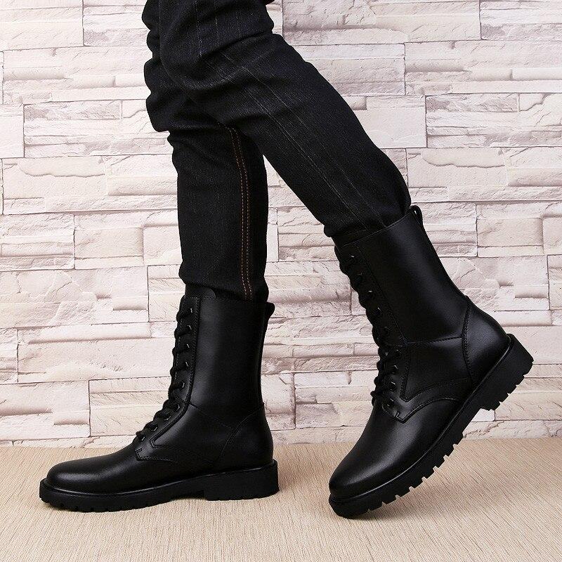 Pinsv D'hiver Chaussures Noir Militaires Danxie Tactique Hei En 38 Jiamian Taille Moto Cuir Véritable Bottes Hommes Hiver 48 Se hei vPSqrxnv