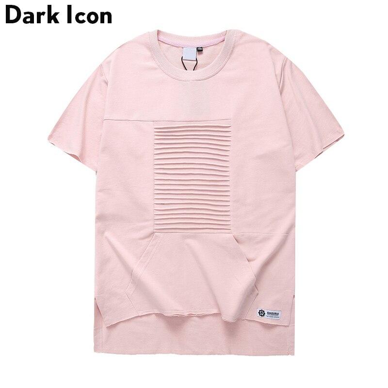 T-shirt girocollo a vita bassa con maniche corte uomo manica corta - Abbigliamento da uomo