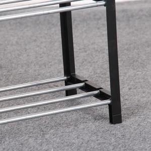 Image 5 - Basit ayakkabı rafı çelik boru plastik 3 katmanlı ayakkabı raf raf kolay monte hafif depolama organizatör standı tutucu uzay tasarrufu
