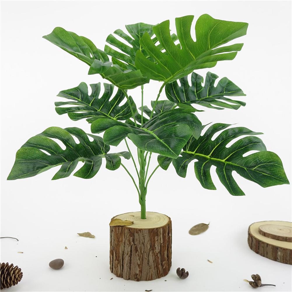 1 Pc Monstera bureau maison plante artificielle haute Simulation faux feuillage feuille1 Pc Monstera bureau maison plante artificielle haute Simulation faux feuillage feuille