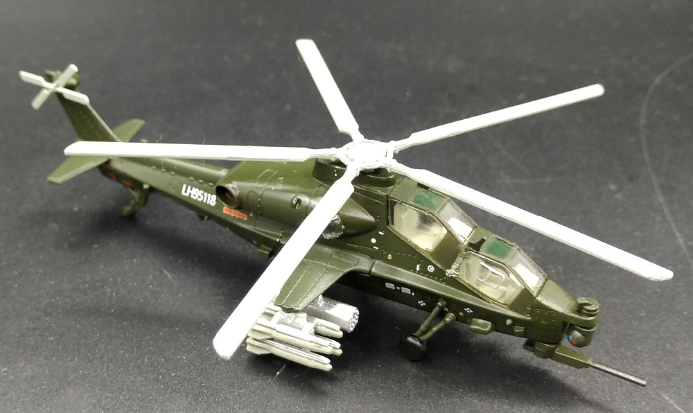 1: 100 Chinese WZ-10 attack helicopter model Alloy aircraft model Favorites Model