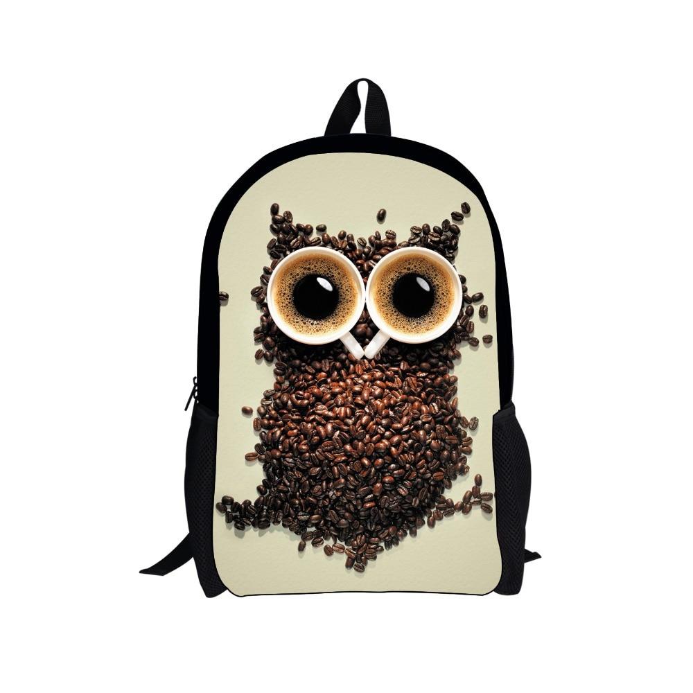 Fashion teenager girls school bag owl printing schoolbags for children cool student kids bookbags mochila infantil