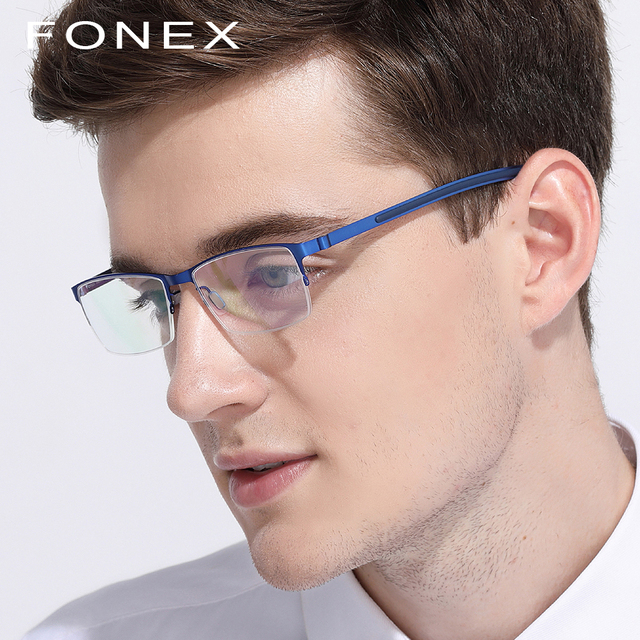 8e412eb857c0d Óculos de titânio Quadro Homens Miopia Ultraleve 2018 Mulheres Quadrado  Óculos de Prescrição Coreano Screwless Frames