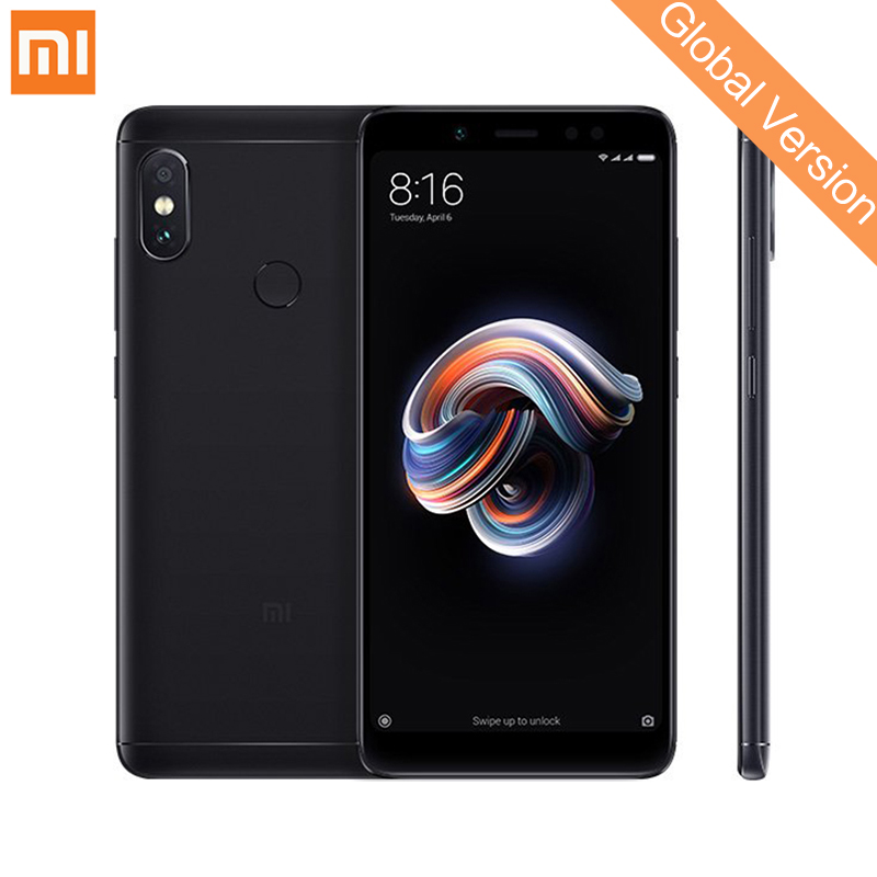 Em Estoque Global Versão Xiaomi Redmi Nota 5 3 gb 32 gb 5.99 Tela Cheia Do Telefone Móvel Dual Câmera snapdragon 636 Núcleo octa B20 CE