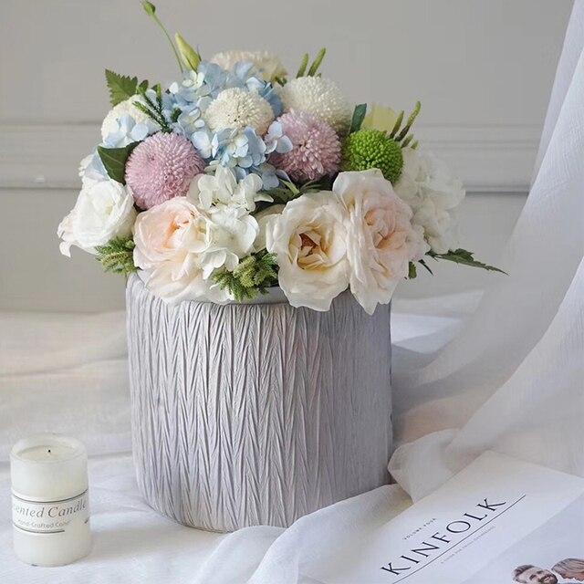 2PCS Creative hug bucket flower box bouquet packaging flower shop ...