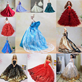 13 Piece Kawaii Barbie Doll Toys Accessories Sorts Beautiful Party Clothes Fashion Dress Fit About 30cm Barbie Toys For Children