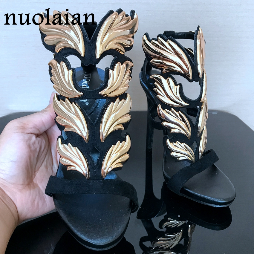 Platform Shoes Womens Pumps Leaf Flame Gladiator Sandal Shoes Party Dress Woman Patent Leather High heel Heels Women Sandals недорго, оригинальная цена