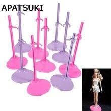 5pcs lot Random Color Dolls Toy Stand Support for Barbie Dolls Girls Prop Up Mannequin Model