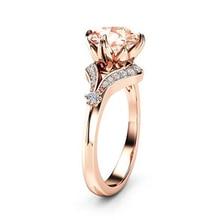 14k Rose Gold Diamond Ring for Women Ametrine Bizuteria pierscionki gold diamond wedding Gemstone Jewelry