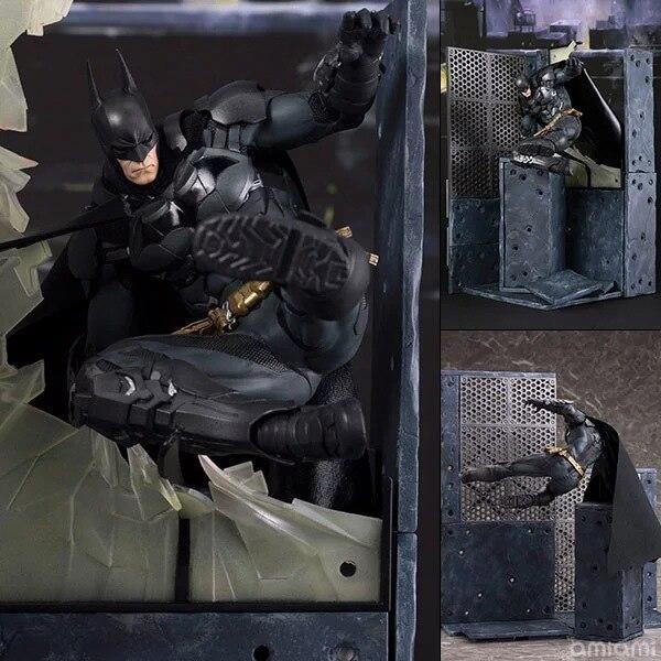 Kids Toys Action-Figure Knight Batman Arkham Justice League Super-Heroes DC 25cm PVC