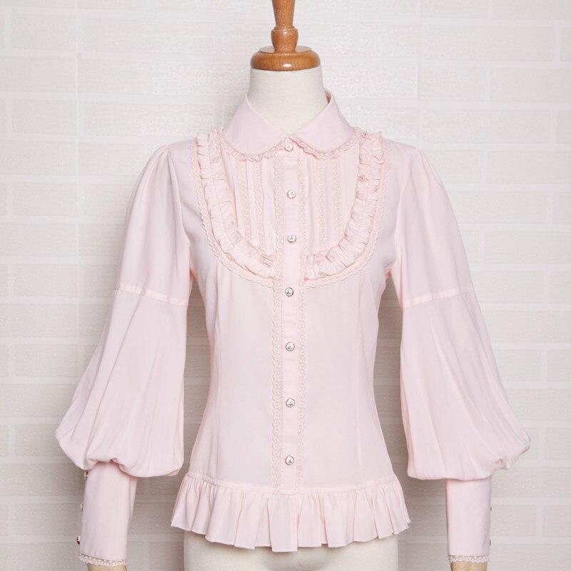 Blusa Larga Camisa Chica Con Medida Chifón De Dulce Mujer Manga A kZXiPu