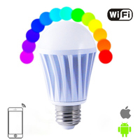 E27 Wifi Bulb 7W RGBW Led Light Bulb Smart Wireless Remote Control Magic Lamp Change Dimmable For Home Hotel Android AC100 240V