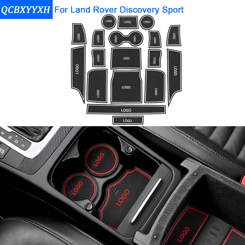 18Pcs Set Car Styling Slot Pad Interior Door Groove Mat Latex Anti Slip Cushion For Land
