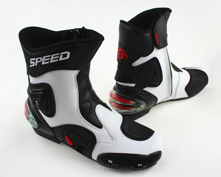 Велосипедные ботинки Автомобильная гонка сапоги мотоциклетные ботинки водонепроницаемые ботинки - Цвет: Бежевый