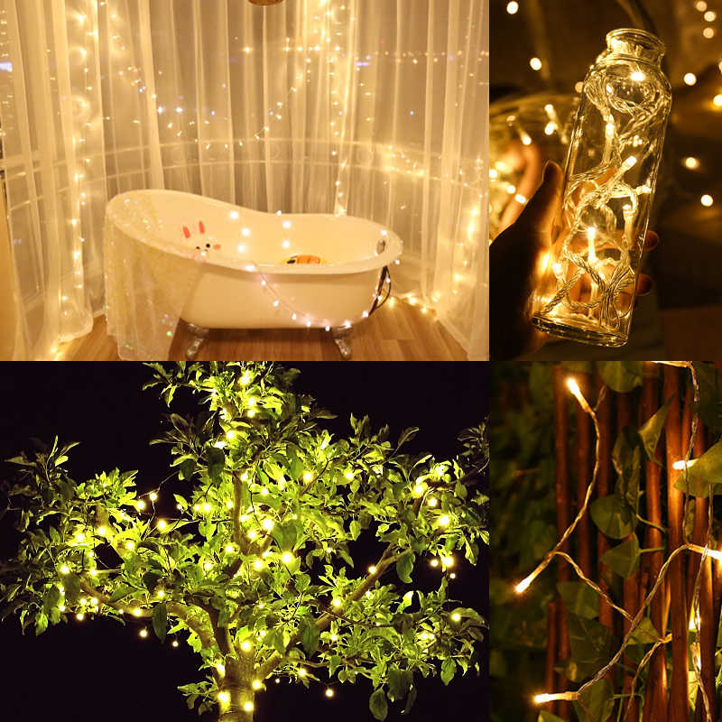 10m Photo Clips String Lights Decorative Wedding Party Fairy LED Light  Indoor Outdoor Starry Light for Holiday Festival Decor