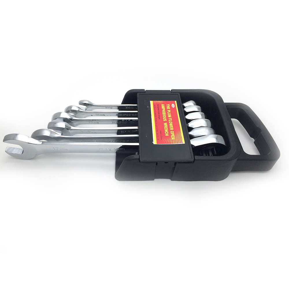 .com : Buy 6 Pieces 8 17mm Ratchet Metric Wrench Spanner Set Gear