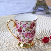 Court style Personality Milk Juice Lemon Bone China Mug Coffee Tea Ceramic Cup Christmas Gift