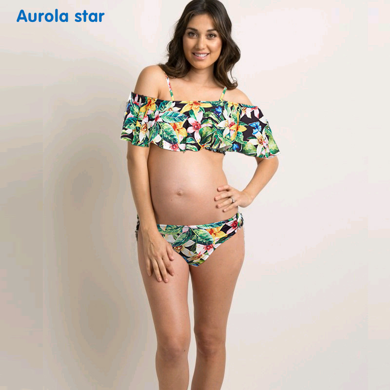 73df4626e218 € 24.48  Traje de baño de maternidad para embarazadas traje de baño para  mujeres embarazadas estampado Tankinis-in Conjunto de tankinis from Madre y  ...