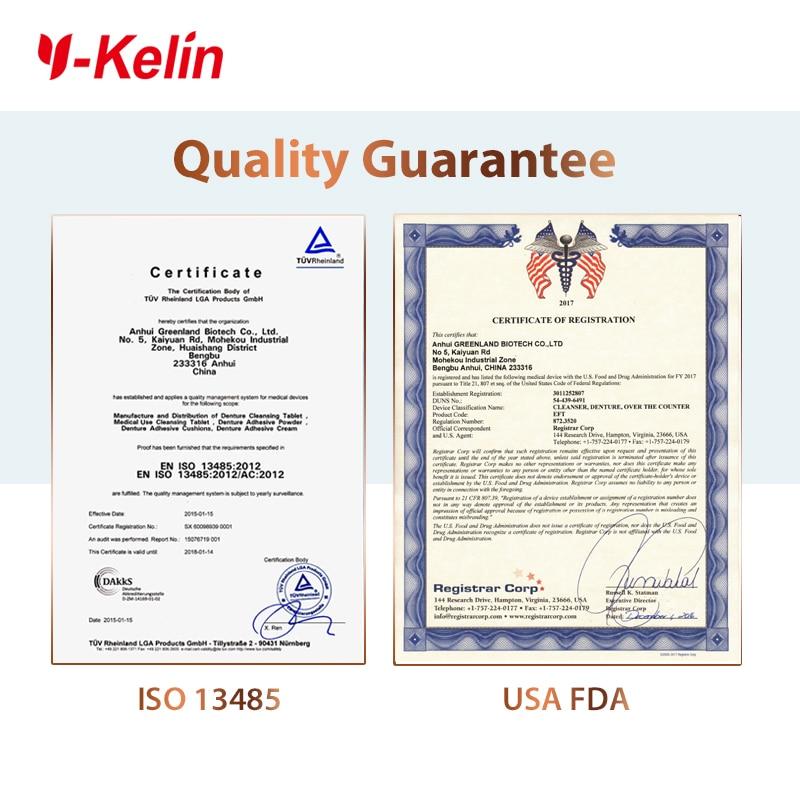Y-Kelin Denture Cleansing Tablet 32 tabs denture cleanser 32 pills denture whitening cleanser remove plaque antibacteria 5