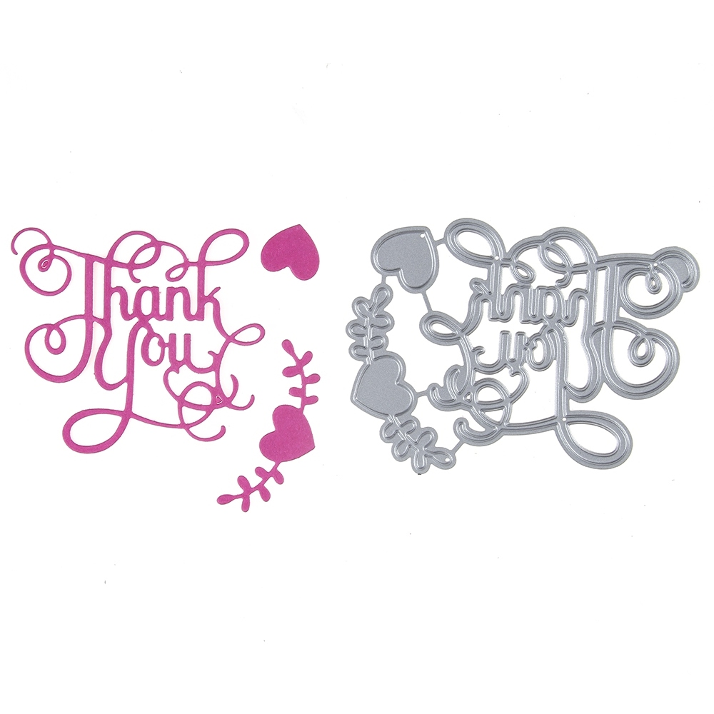 68*91mm scrapbooking DIY cute thank you love vineshape steel cutting die sweet wedding Book photo album art card cake Dies Cut
