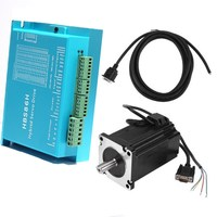 HLTNC Nema 34 8.5N.m Closed Loop Stepper Motor 86HB250 +HBS860H Servo Driver +400w 60 v Switching power supply