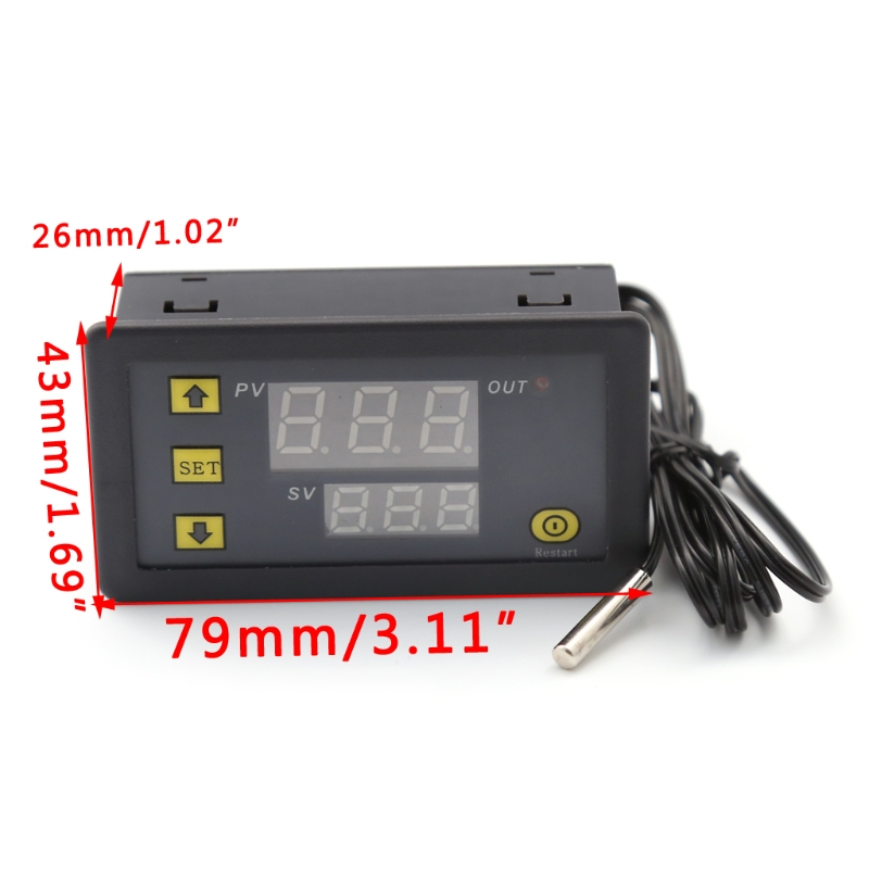 все цены на  10A 12V LCD Digital Temperature Controller Temp Sensor Thermostat Control Relay W315  онлайн